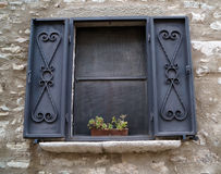 Curtained Fenster Stockfotografie