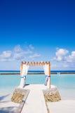 Curtained pavilion, Kurumba, Maldives Royalty Free Stock Image