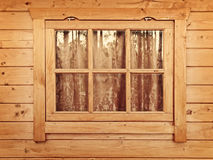 Curtained window Stock Photo