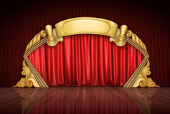 Curtains stock illustration