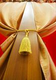 Curtains. With a cord on a wooden column stock photography