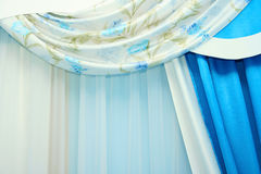 Curtains. Picture of luxurious curtains at home Stock Images