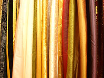 Curtains. Different color silk curtains, Italy royalty free stock image