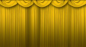 Curtains. Beautiful big size golden theater curtains background Royalty Free Stock Photos