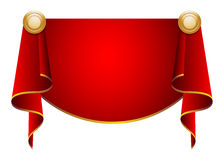 Curtains. Red velvet curtains illustration suitable for advertisements Royalty Free Stock Images