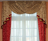 Curtains. Beauty style of hanging curtains Royalty Free Stock Photo