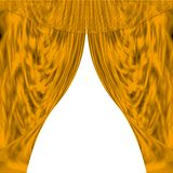 Curtains. Abstract curtains at windows Royalty Free Stock Photos