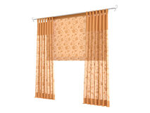 Curtains. Rendered 3d isolated curtains on white background Royalty Free Stock Photos