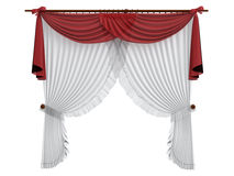 Curtains. Rendered 3d isolated curtains on white background Royalty Free Stock Images