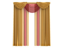 Curtains. Rendered 3d isolated curtains on white background Royalty Free Stock Photography
