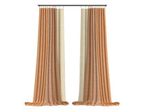 Curtains. Rendered 3d isolated curtains on white background Stock Photo