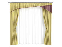 Curtains. Rendered 3d isolated curtains on white background Stock Photography