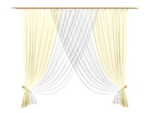 Curtains. Rendered 3d isolated curtains on white background Royalty Free Stock Image