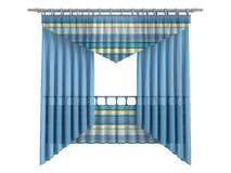Curtains. Rendered 3d isolated curtains on white background Royalty Free Stock Photo