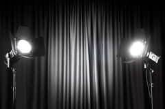 Free Curtains And Projector Stock Images - 19403084