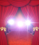 Curtains And Red Carpet Royalty Free Stock Photography