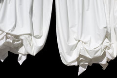 Curtains on Black Stock Photo