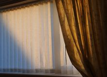 Curtains and blinds. stock images