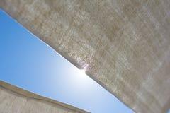 Curtains blocking the sun Royalty Free Stock Photo