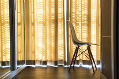 Curtains and chairs Stock Image