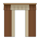 Curtains with drapery on the cornice.Curtains single icon in cartoon style rater,bitmap symbol stock illustration web. Stock Photo