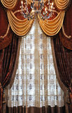 Curtains and droplight Royalty Free Stock Photography