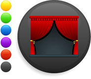 Curtains icon on round internet button Royalty Free Stock Image