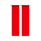 Curtains Interior design sketch.Window curtains Royalty Free Stock Image