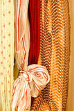 Curtains knot Stock Images