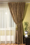 Curtains in the living room Royalty Free Stock Image
