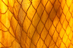 Curtains with mesh pattern Royalty Free Stock Photo