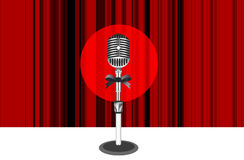 Curtains with microphone Royalty Free Stock Images