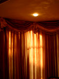 Curtains n' Lights. Beautiful curtains in a house Stock Image