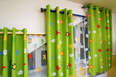 Curtains in the nursery Royalty Free Stock Images