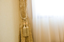 Curtains with ornaments Stock Photography