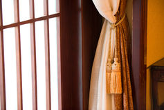 Curtains with ornaments Stock Photo