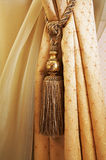Curtains with ornaments Royalty Free Stock Photos