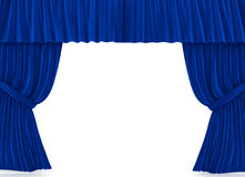 Curtains over white Stock Photos