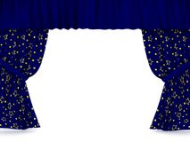 Curtains over white Royalty Free Stock Images