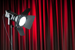 Curtains and projector Stock Photos