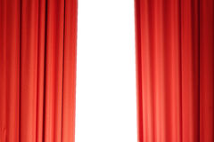 Curtains in red Royalty Free Stock Photography