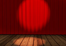 Curtains in red Stock Photography