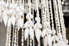 Curtains From Sea Beautiful Colorful Shells The Stock Photos
