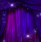 Curtains with Sparkle Royalty Free Stock Photo