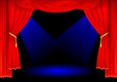 curtains stage Στοκ φωτογραφίες με δικαίωμα ελεύθερης χρήσης