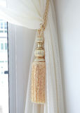 Curtains tassel. For interior luxury house stock photography