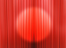 Curtains of a theater stage. Red curtain of a classical theater Stock Photos
