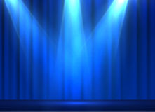 Curtains vector background. EPS10. Curtains vector background with shiny spotlight. EPS10 Stock Photography