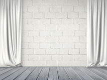 Curtains on a Wall Royalty Free Stock Photos