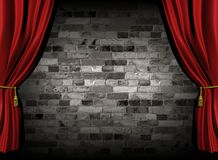 Curtains and wall Royalty Free Stock Images